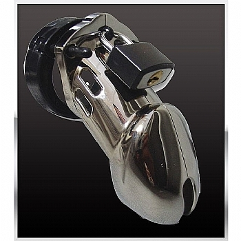 dispositivo de castidade para pênis com cadeado - c b 6000 designer collection male chastity device chrome finish